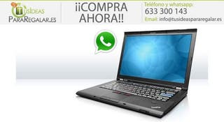 Portátil Lenovo T410s, I5 / Disco SSD / 8Gb Ram /