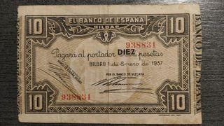 BILLETE DE 10 DIEZ PESETAS - BANCO DE ESPAÑA - BIL