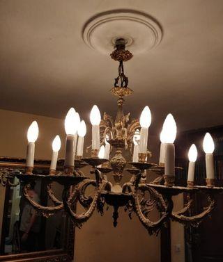 Lámpara bronce estilo Luis XV