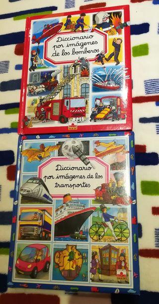 Libros diccionario de bomberos y transportes
