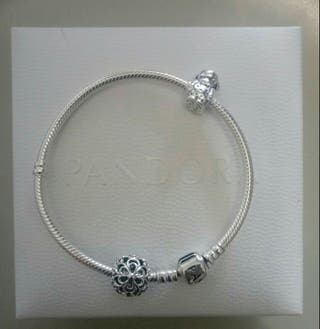 pulsera Pandora con 2 charms