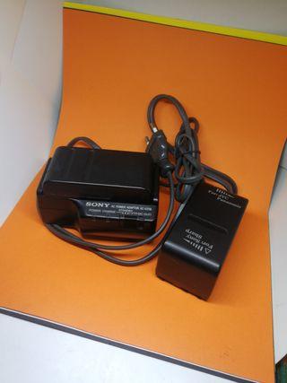 cargador baterías Sony NP-55 de videocámara