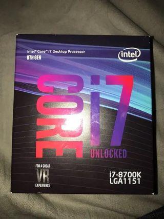 Procesador Intel I7 8700K