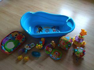 Lote de productos baño juguetes y juego bebes