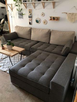 Sofá de 4 plazas con chaise long