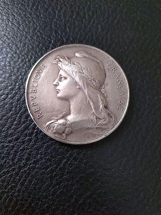medalla - moneda republica francesa.