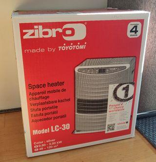 Estufa parafina Zibro LC 30 +2 años garantía