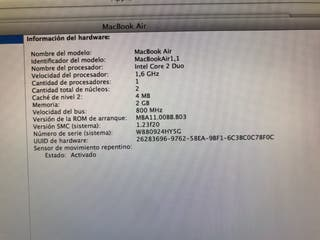 MacBook Air 1,1 original