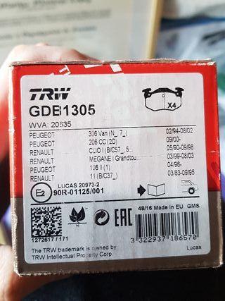 Pastillas de freno TRW GDB1305