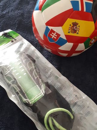 Espinilleras + balón de banderas