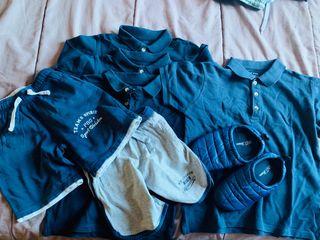 Lote de camisetas , short y zapatilla