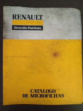 Catálogo de microfichas de Renault