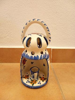 farolillo de cerámica