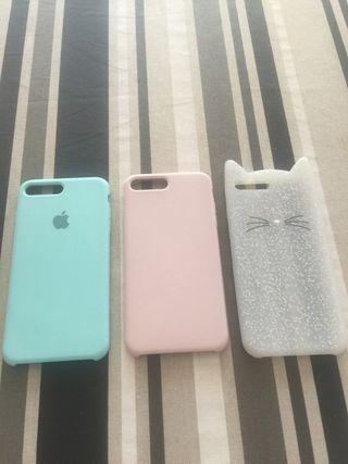Fundas iPhone 7 Plus 3 euros cada una