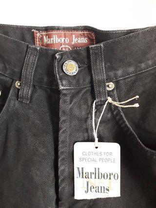 NUEVO pantalón vaquero jeans Marlboro t 34 - 36