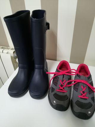 Botas de agua Igor y zapatillas N°36