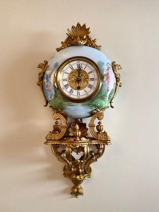 Reloj Cartel Porcelana. Eugene Farcot