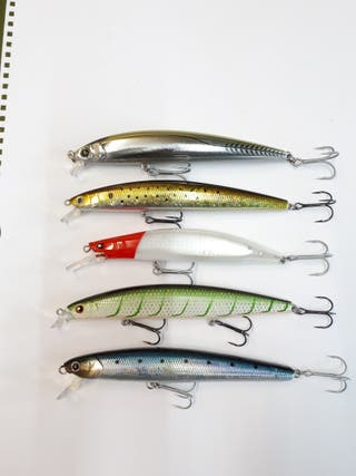 5 Señuelos Rapalas artificiales pesca