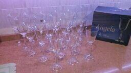 20 Copas cristal de Bohemia