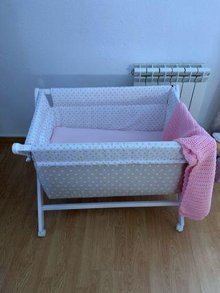 Mini cuna y colchón