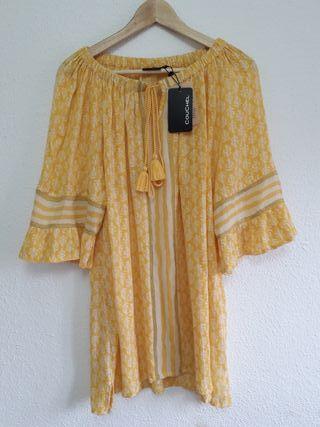 NUEVO top vaporoso blusa Couchel ECI t 48