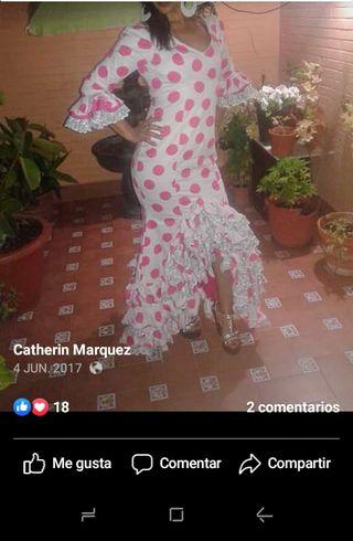 traje, vestido de flamenca Gitana Sevillana