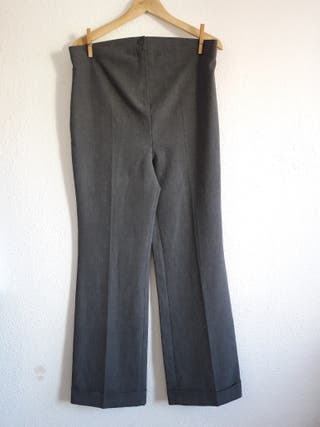 Pantalón formal gris oscuro ECI t 42 premamá