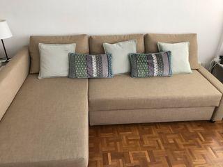 Sofá, chaiselongue y cama doble