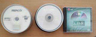 DVDs y CDs vírgenes