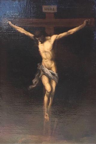 Pintura óleo original firmado. Arte religioso.
