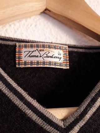 Jersey suéter fino hombre Burberry t L (44) azul