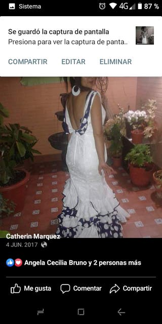 traje de flamenc vestid gitana flamenca Sevillana