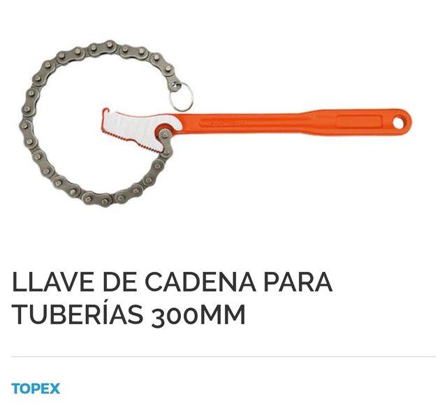 Llave de cadena para tuberías