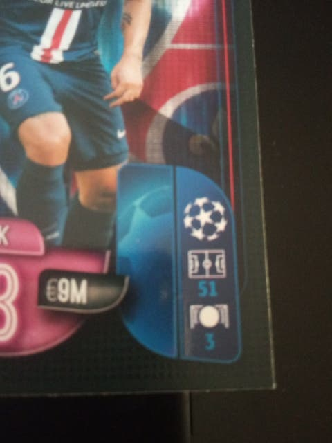 Marco Verratti PSG. Champion league topps.