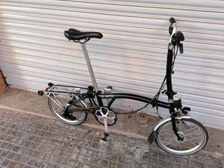 bicicleta plegable brompton