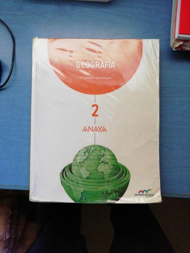 Libro Geografía 2°Bachillerato Anaya