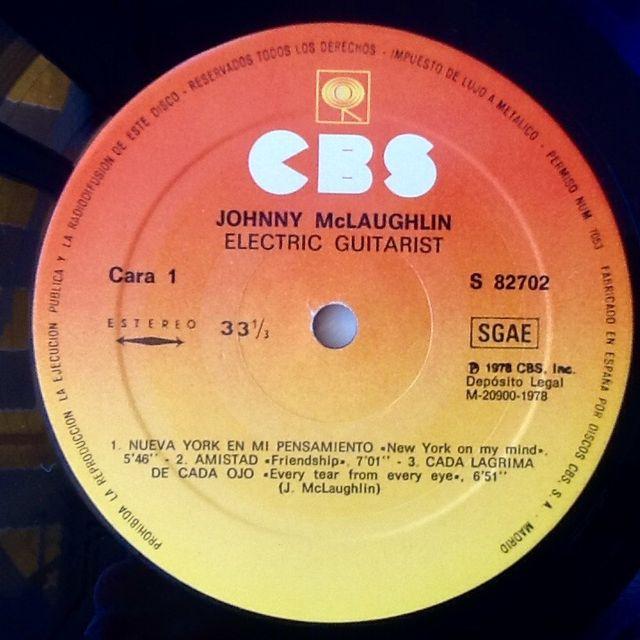 "JOHN McLAUGHLIN ""ELECTRIC GUITARIST"" LP"
