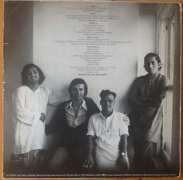 "SHAKTI ""WITH JOHN McLAUGHLIN"" LP"