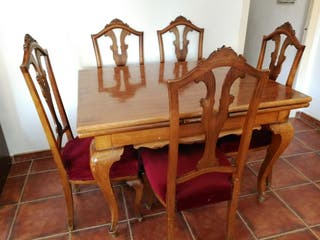 Mesa extensible estilo Isabelina