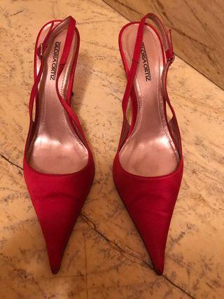 Zapatos de mujer rojos Gloria Ortiz número 40
