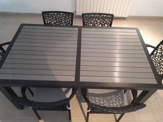 mesa jardin y 6 sillas