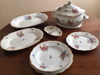 Vajilla de porcelana antigua Bidasoa 6 servicios