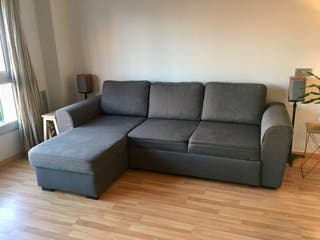Sofá cama con canapé para almacenaje