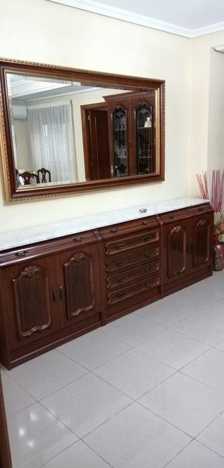 buffet aparador con espejo