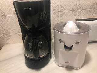 Cafetera y exprimidor zumo