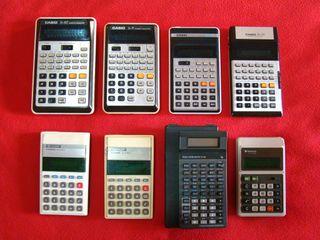 Lote 8 calculadoras Texas Casio Sharp Sanyo