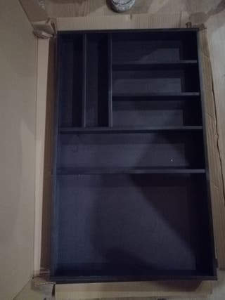 cubertero negro de madera