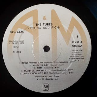 """THE TUBES """"YOUNG AND RICH"""" LP"""