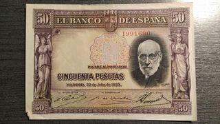 BILLETE DE 50 PESETAS 1935 RAMON Y CAJAL