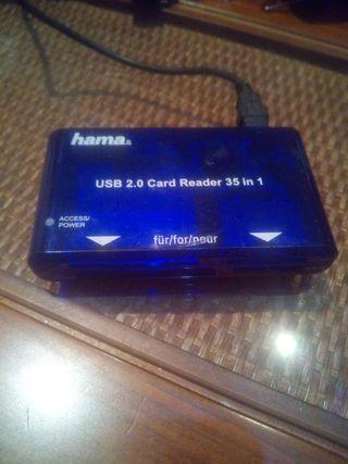 Lector tarjetas USB HAMA